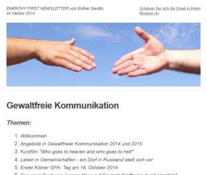 GFK Newsletter von Esther Gerdts: Mein Tipp!