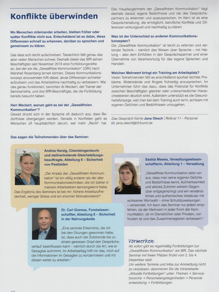 Interview mit Al Weckert beim Bundesinstitut für Risikoforschung